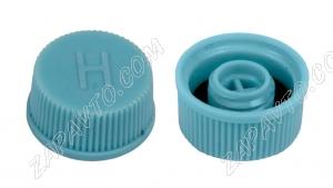 Колпачок клапана кондиционера H (на ниппель, голубой)