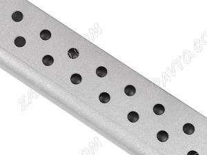 """Пороги 2131 Нива с металлическим листом с резинкой """"Эксклюзив"""" 51мм """"Металл-Дизайн"""""""