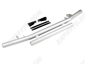 """Защита переднего бампера 2123 Шевроле Нива RS труба двойная 63,5 мм """"Металл-Дизайн"""""""