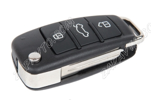 Ключ замка зажигания Ларгус выкидной, с платой по типу Audi эконом