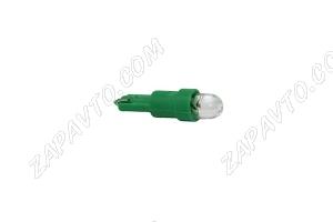 Светодиод - Т5 12 V LED LAMP зеленый (панель приборов,без/цок.)