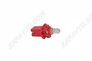 Светодиод - 12V 1.2 красный (панель приборов,без/цок.с патроном)