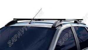 Ложементы багажника (рейлинги) 1119 Калина хэтчбек с поперечинами (черные) Vamer 165х18х17