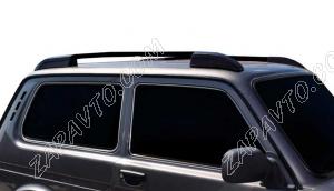 Ложементы багажника (рейлинги) 2121 Нива (черные) Vamer
