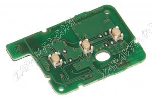 Пульт дистанционного управления Renault HITAG 3 PCF 7939 хром (3 кнопки)