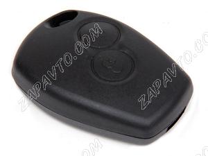 Корпус ключа зажигания Ларгус, Renault (резиновые кнопки) аналог эконом