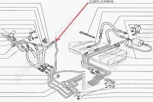 Трубка топливная топливопровода обратка 21082 (1.5L) магистраль