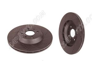 Диск тормозной передний R15 (вентилируемый, евро-спорт, черный) TORNADO (2шт.)