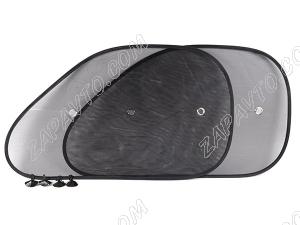 Защита от солнца на переднее боковое стекло (универсальная, сетка) (2шт.)