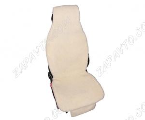 Накидки меховые на сиденья из овчины (белые) 2 шт