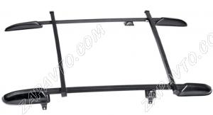 Ложементы багажника (рейлинги) 2123 Шевроле Нива с поперечинами (черные)