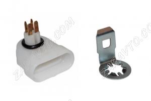 Разъем модуля электробензонасоса BOSCH с фиксатором н/о (клеммы разные)