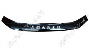 Дефлектор капота Volkswagen Amarok (мухобойка) с 2010 г.в.