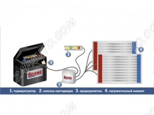 Подогреватель аккумулятора (АКБ) НТА-1/2 (для эксплуатации совместно с Термокейсом)