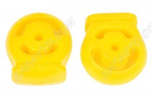 Подушка подвески глушителя 2121, 21213 VTULKA (полиуретан, желтая) 2 шт. 17-08-128 А443