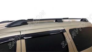 Ложементы багажника (рейлинги) Ларгус с поперечинами (черные) Vamer 193х18х17