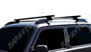 Ложементы багажника (рейлинги) 2121 Нива с поперечинами (черные) Vamer 165х18х17