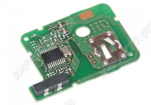 Пульт дистанционного управления Renault HITAG 3 PCF 7939 хром (2 кнопки)