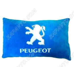 Подушка декоративная PEUGEOT (голубая)