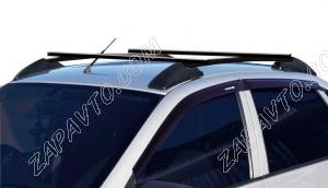 Ложементы багажника (рейлинги) 1118 Калина, 2190 Гранта с поперечинами (черные) Vamer 165х18х18