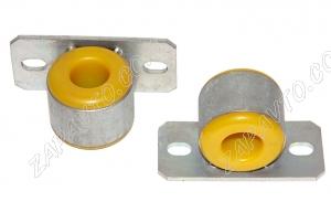 Втулка штанги стабилизатора с кронштейном Гранта люкс, Калина 2 (тюнинг, полиуретан, 24мм) 2шт.
