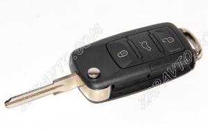 Ключ замка зажигания 1118, 2170, 2190-люкс, DATSUN, 2123 (выкидной) (по типу Volkswagen, 3 кнопки)