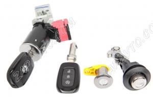Замок зажигания Renault (в комплекте с цилиндрами замка, ключи) 806017299R