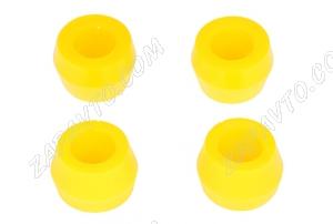 Втулка амортизатора заднего 2101 конусная С.П.Б (полиуретан желтый) 4шт.  VZ-1-0-107-65