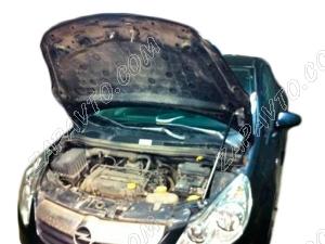 "Упор капота Opel Corsa D (2006-н.в)(в сборе с кронштейном) ""ТехноМастер"""