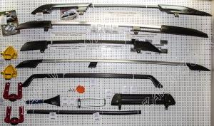 Ложементы багажника (рейлинги) 1117 универ.с поперечинами (после 2013) (серебристые) 156х26х11