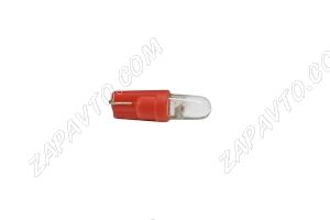 Светодиод - Т5 12 V LED LAMP красный (панель приборов,без/цок.)
