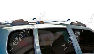 Ложементы багажника (рейлинги) 2123 Шевроле Нива с поперечинами (серебристые) Vamer 176х18х17