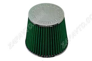 Фильтр воздушный нулевого сопротивления Pro.Sport Flow зеленый хром закрытый