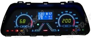 Комбинация приборов электронная 2110-2115, 2123 (до 2009 г.в) FLАSH1(авто-евросвет) (подсв.зеленая)