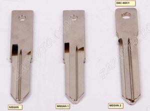 Ключ замка зажигания Renault HITAG 3 PCF 7939 с чипом, без кнопок (хром)