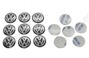 Эмблема для выкидного ключа Volkswagen 14мм черная