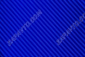 Пленка автомобильная (карбон синий, 160 мкр.) ширина 1м 52см (в рулоне 30м)