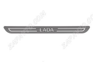 Накладки на пороги передние (орнамент) LADA