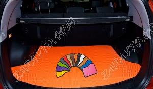 Коврики багажника Ларгус (7 мест) 2013- EVA