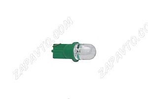 Светодиод - Т10 12 V LED LAMP зеленый (габариты,без/цок.)