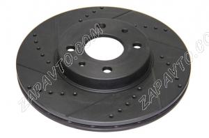 Диск тормозной передний R14 (вентилируемый, евро-спорт, черные) TORNADO (2шт.)