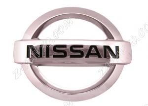 Знак заводской NISSAN (100х86мм) хром