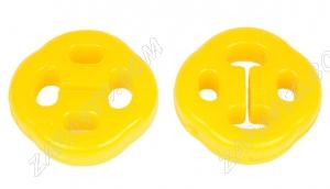 Подушка подвески глушителя 1118 Калина VTULKA (полиуретан, желтая) 2 шт 17-08-126 А443