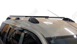 Ложементы багажника (рейлинги) Ларгус с поперечинами (серебристые) Vamer 193х18х17