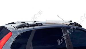 Ложементы багажника (рейлинги) 1119 Калина хетчбек с поперечинами (серебристые) Vamer 165х18х17