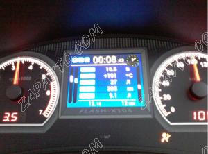 Комбинация приборов электронная 1118, 2112, 2170 FLАSH-X104 до июля 2012 стрелочная, RGB, полифония