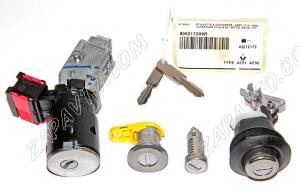 Замок зажигания Renault (в комплекте с цилиндрами замка, заготовка ключа без пульта) 806017299R