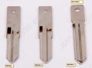 Ключ замка зажигания Nissan HITAG 3 PCF 7961 (резиновые кнопки)