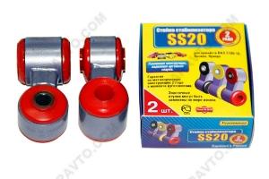 Стойки стабилизатора в сборе 2108 SS20 (полиуретан, красные) 2шт  40108