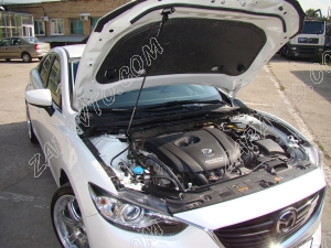 "Упор капота Mazda 6 III (2012-), Mazda 3 III (2013-) (в сборе с кронштейном) ""ТехноМастер"""
